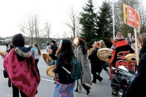 First Nations march against climate change and Site C