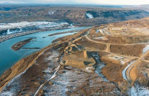 Photo of work being done in preparation for construction of the Site C dam. MANDATORY PHOTO CREDIT: Garth Lenz