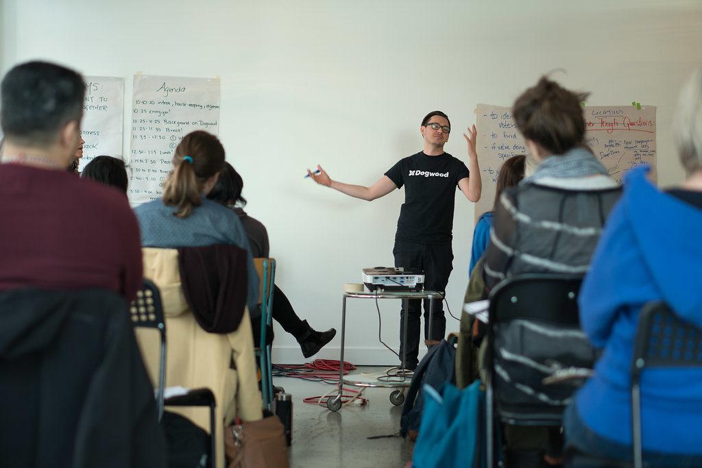Training workshop with Dogwood organizer