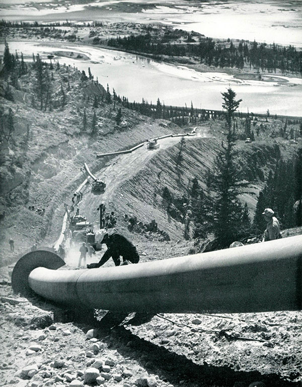 Trans Mountain construction in Jasper National Park