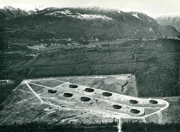 Trans Mountain's Burnaby tank farm in the 50's