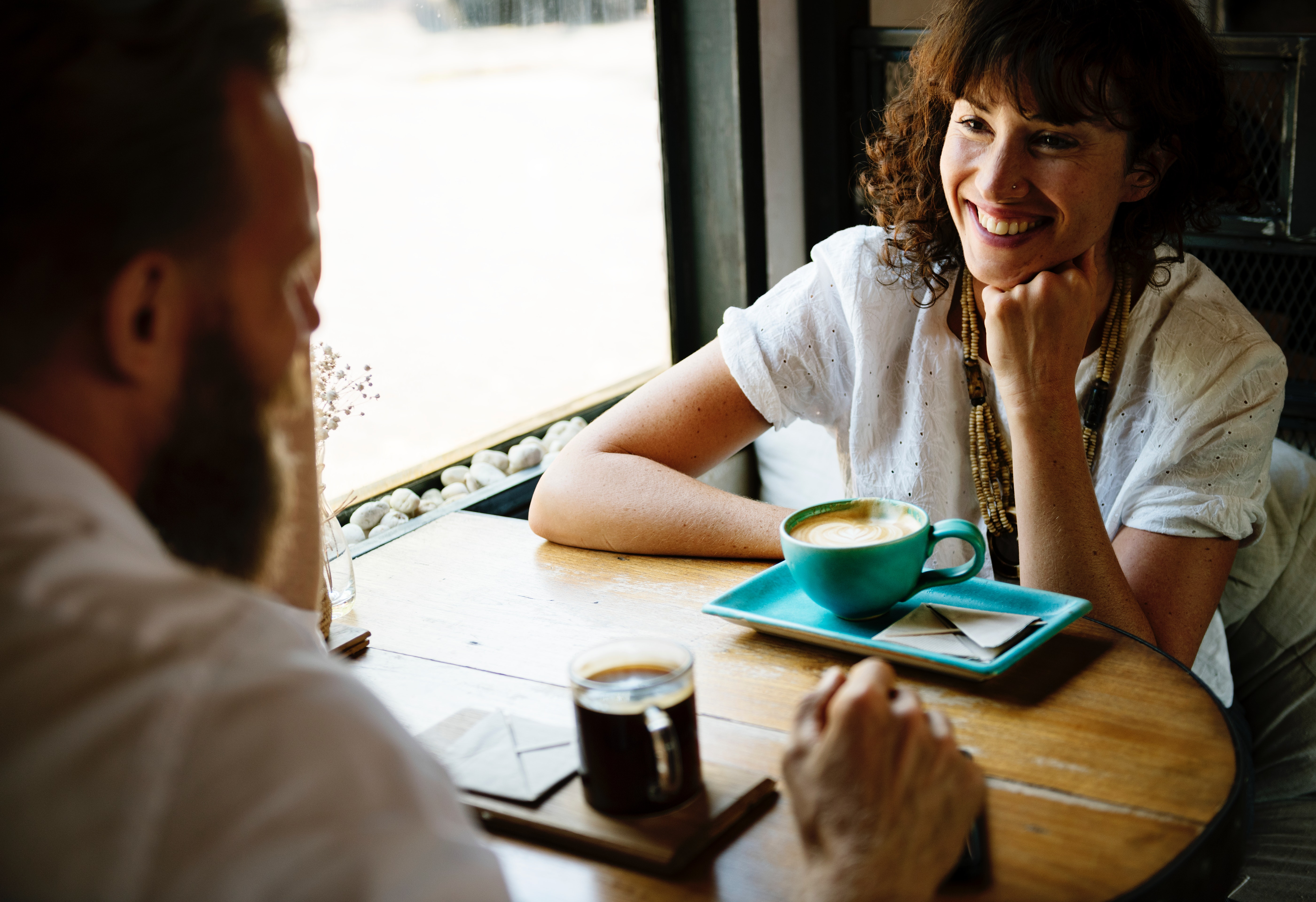 Couple at a coffee shop