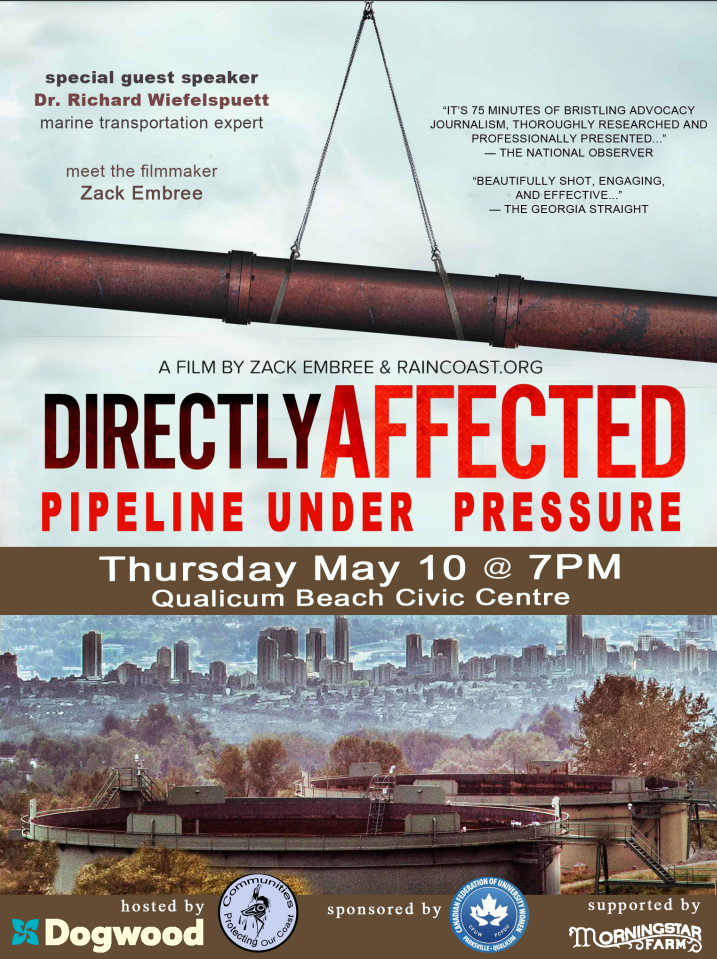 May 10th at 7PM Directly Affected Screening at the Qualicum Beach Civic Centre