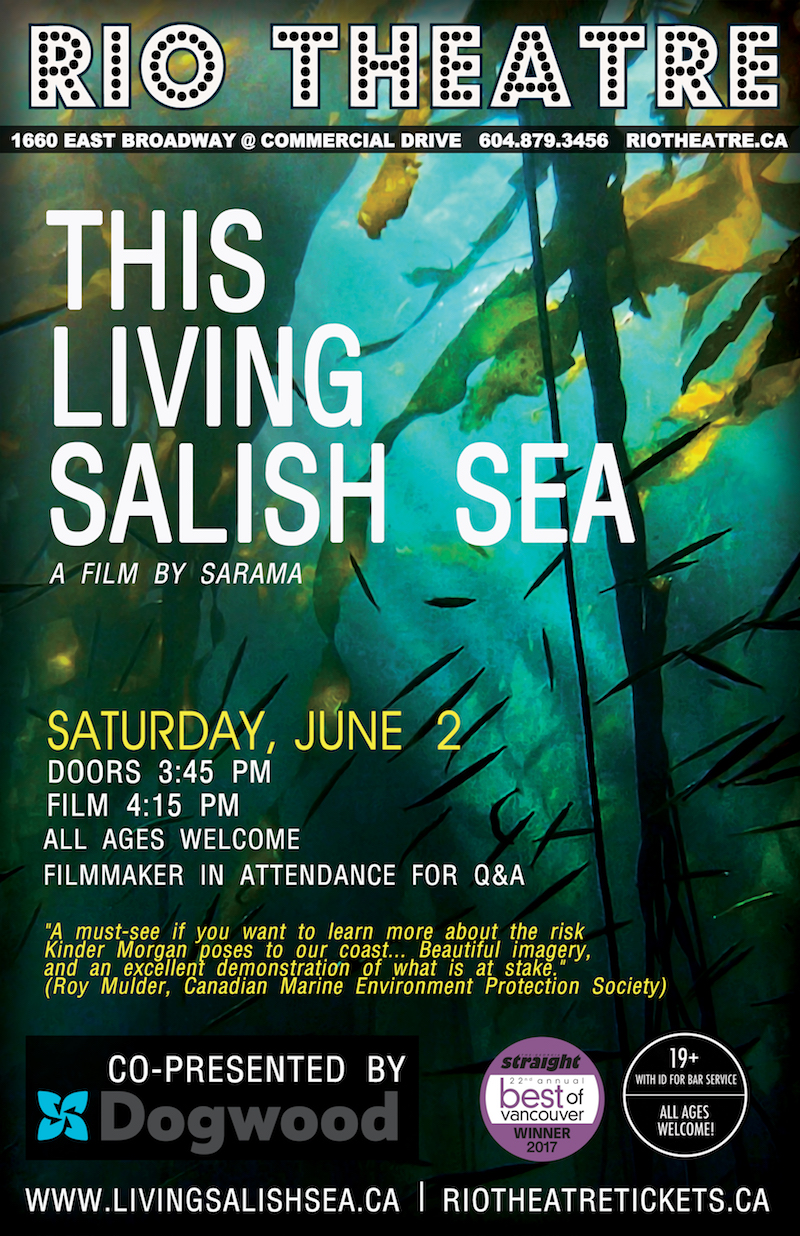 Poster for The Living Salish Sea screening on June 2, 2017.