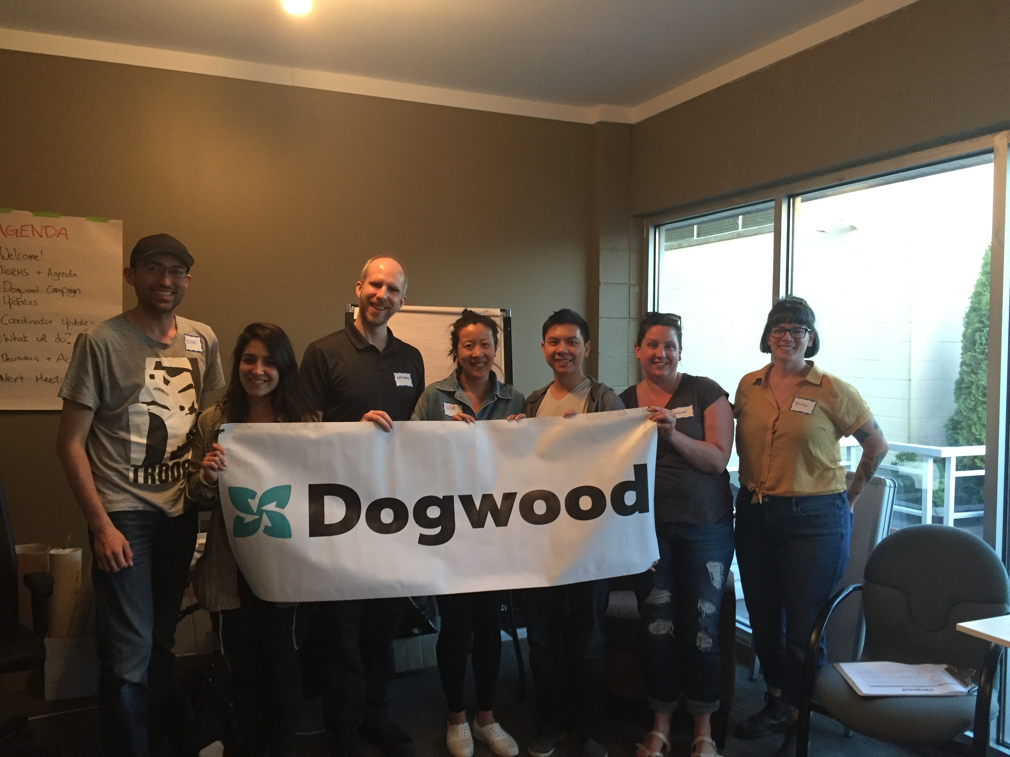 Dogwood volunteers in Burnaby and New West, May 2018.