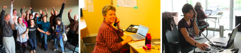 Phone bankers call Dogwood supporters about the 2015 election