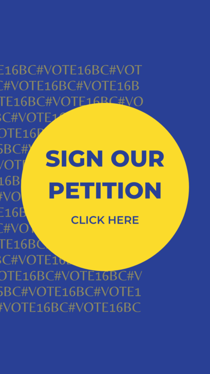 Click to sign the vote 16 petition