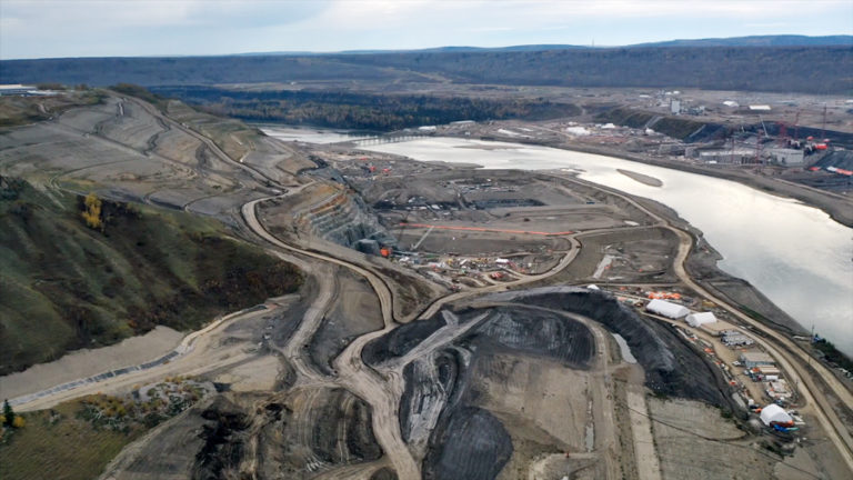Photo of Site C construction in January 2020 by Jayce Hawkins