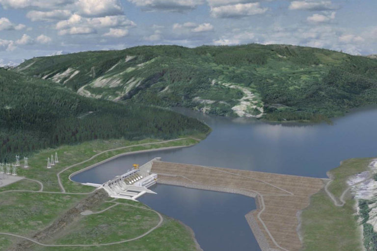 Illustration of Site C by BC Hydro