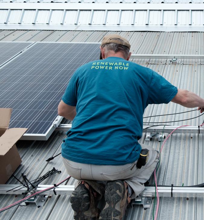 Installing rooftop solar panels