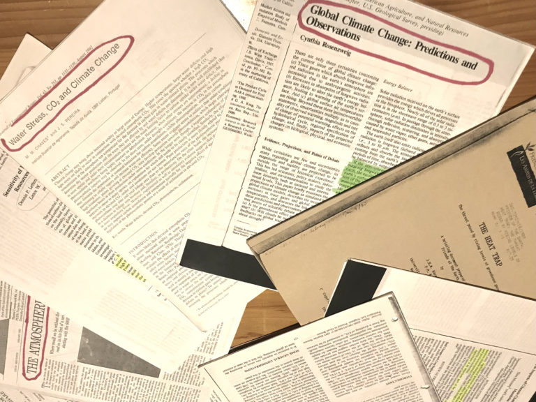 Research papers on climate change from the 1990s